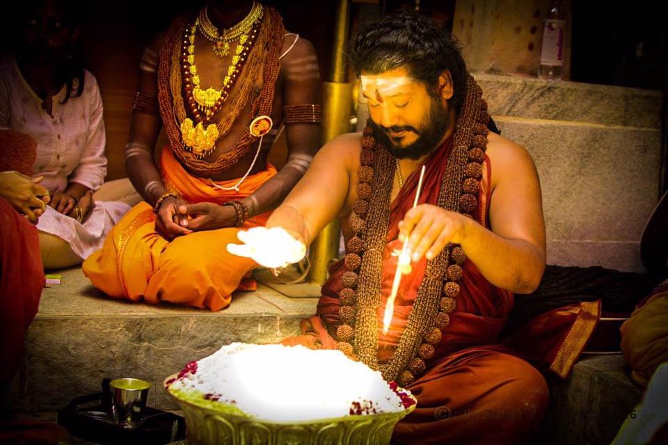 Swamiji energizing