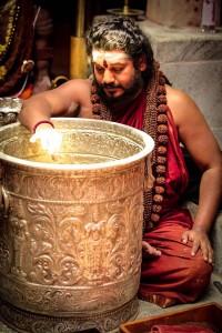 Swamiji making alchemical products