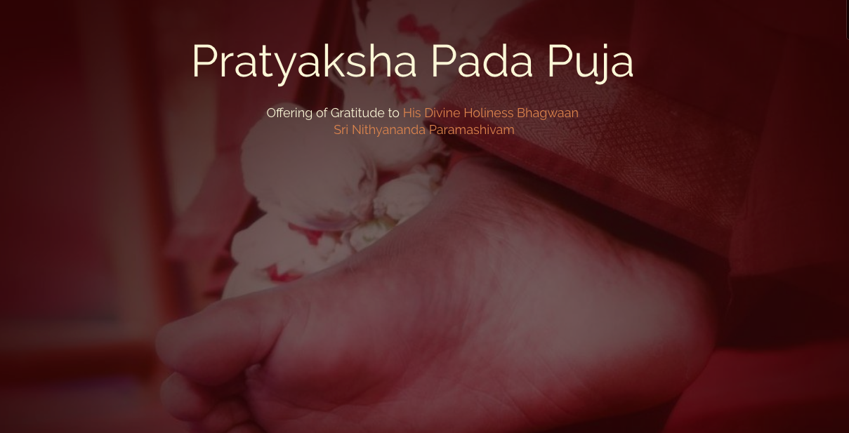 Pratyaksha-Pada-Puja-