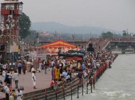 Posvätná rieka Ganga v Haridware