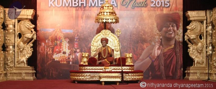 "Z webinára Paramahamsa Nithyanandu ""KUMBHA MELA NASIK 2015"""