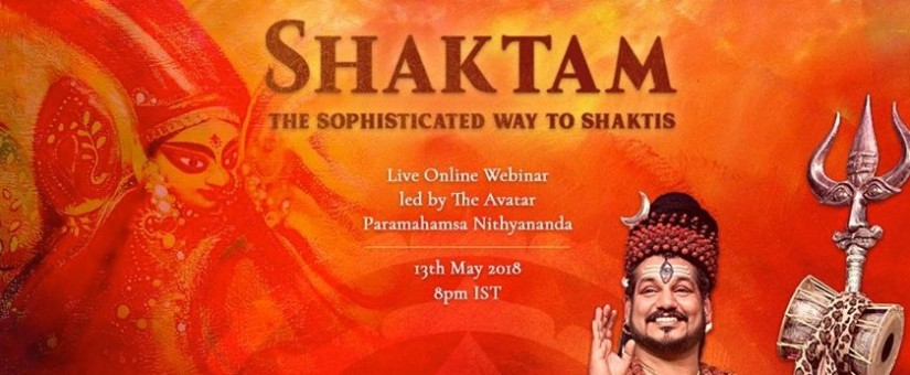 SHAKTAM – ONLINE WEBINÁR so Swamijim Nithyanandom