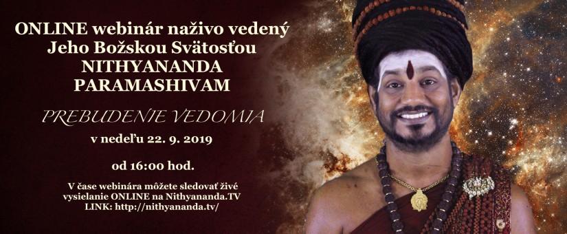 Webinár so Swamijim 'PREBUDENIE VEDOMIA'