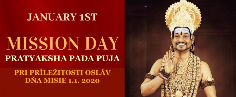 Pratyaksha Pada Puja pri príležitosti osláv Dňa MISIE 1.1. 2020