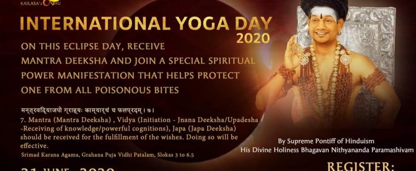 Video kompilace 108 ásan Nithyananda jógy nasledovníkmi Swamijiho