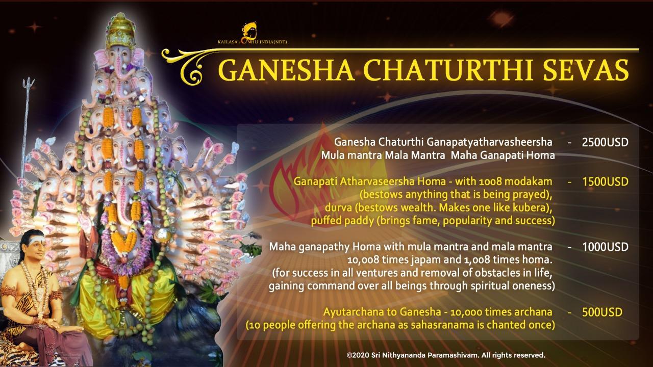 Ganesha Chaturthi sevas banner